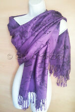 Butterfly Pashmina Scarf Purple Butterflies Viscose Womens Wrap/Shawl