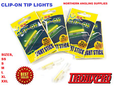 4 X CLIP ON FISHING ROD TIP LIGHTS / LIGHTSTICKS, (SIZE: SUPER SMALL )  FISHING