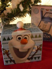 Disney Blue FROZEN MUSIC KEEPSAKE BOX w 3 OLAF STUD EARRING Set Mr Christmas NIB