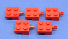 LEGO 5 x halbe Achse 2x2 rot | red half axis (4488)