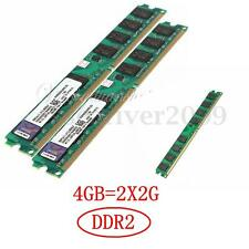 4GB (2x2G) DDR2 800 PC2-6400 240 Pin DIMM Desktop Memory RAM ONLY For AMD CPU