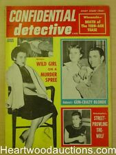 """Confidential Detective"" March 1957 Gun Crazy Blonde"