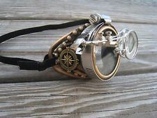 Steampunk Goggles Monocle R with Key Necklace Burning Man Festival