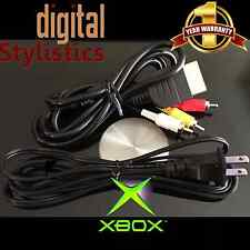 AV Cable & AC Power Cord (NEW) XBOX Original (A/V Audio Video, Adapter Supply)