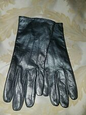 Isotoner Womens Signature Smartouch Leather Gloves Grey Silver #89724 New