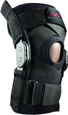 McDavid Hinged Knee Compression Relief Support Brace w/ Cross Straps Black Large