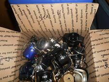 LOT#SEAL 4/MEDIUM FLATE RATE BOX FULL OF FISHING REEL ROTORS&BAILS