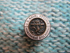 WWII US NAVAL RESERVE HONORABLE DISCHARGE LAPEL BUTTON PIN NAVY Buttonhole Stud