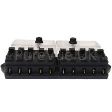NEW 10 WAY UNIVERSAL STANDARD 12V 12 VOLT ATC BLADE FUSE BOX / COVER TRACTOR