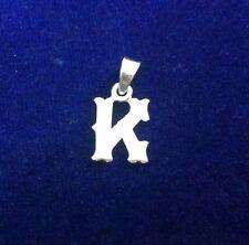 New 925 Sterling Silver Initial Alphabet K Letter Pendants for Unisex