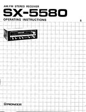 Pioneer SX-5580 Receiver Owners Manual