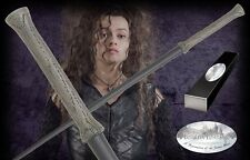 HARRY POTTER OFFICIAL BELLATRIX LESTRANGE PROP REPLICA WAND + NAME CLIP STAND