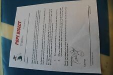 Vintage Surfing POPE BISECT Autographed letter 8.5x11in. Poster