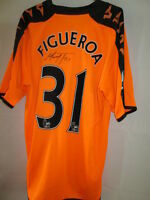 Wigan Athletic Match Worn Figueroa 2009-2010 Away Football Shirt with our COA