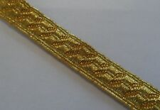 "Gold Mylar B&S Lace, Bias, 3/8"", 8mm, Army, Braid, Military, Uniform, Braid"