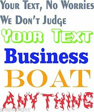 Custom Personalized Truck Windshield Boat Auto Business office Graphics Decals