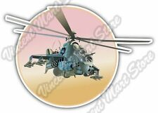 """Strike Helicopter Military Army Fly Car Bumper Window Vinyl Sticker Decal 5""""X4"""""""