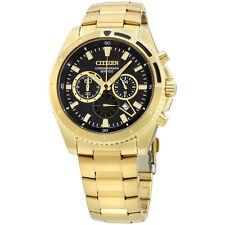 Citizen Black Dial Gold Tone Stainless Steel Men's Watch AN801250E