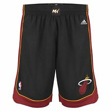 Mens Adidas NBA Miami Heat Swingman Basketball Shorts in Black XXL