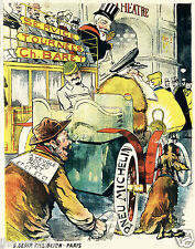 PNEU MICHELIN 1920s French Cartoon style Poster 13 x 16 giclee print