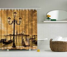 "CLOUDS VENICE ITALY GONDOLA 70"" Fabric Bathroom Shower Curtain"