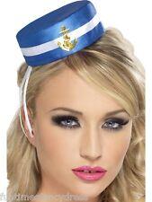 Damen Mini Matrosenmütze Nautisch Marine Marine Militär Pillendose Hut Kostüm