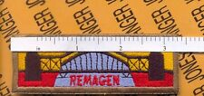 """US Army 9th Armored Division """"REMAGEN"""" bridge tank Armor tab patch"""