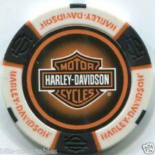 5 pc 5 colors HARLEY DAVIDSON PROFESSIONAL poker chip sample set NEW DESIGN