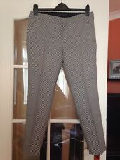 ZARA BLACK & WHITE TARTAN CHECKED TROUSERS SIZE M MEDIUM