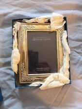 ENGLISH CARRS HALLMARKED STERLING SILVER  FRAME IN ORIGINAL BOX  5 X 3.5 INCHES