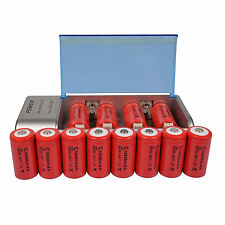 12x C Size 10000mAh 1.2V Red Rechargeable Battery Cell + AA AAA 9V C D Charger
