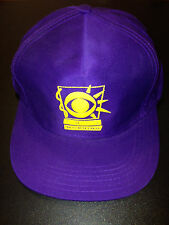 VINTAGE 1990'S CBS THIS MORNING BASEBALL CAP PURPLE/YELLOW MINT COND. NEVER WORN
