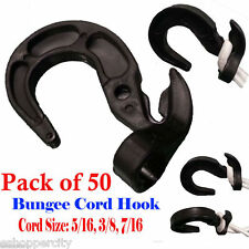 50X Bungee Cord Hooks Shock Cord Hook Tarp Strap 3/16 7/16 Boat Cover Kayak