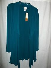 """Womens New """"Coldwater Creek"""" Draped Open Front Cardigan Green Sm"""