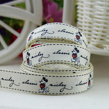 20 Yards 5/8''16mm printed Mickey Mouse Grosgrain Ribbon