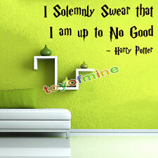 Harry Potter I Solemnly Swear I Am Up To No Good Wall Decal Black Sticker Quote