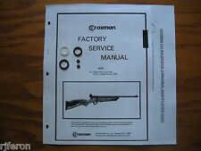 Crosman 160 167 CO2 Seal Kit - Factory Service Manual - Instructions - Guide