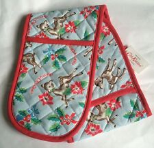AUTHENTIC CATH KIDSTON CHRISTMAS DEER BAMBI DOUBLE OVEN GLOVES MITTS - BNWT!