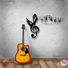 Wall Stickers Vinyl Decal Note With Wings Music Cool Decor For You (z1614)