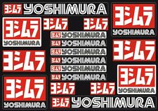 Yoshimura Decals Stickers for Exhaust Graphic Set Vinyl Adhesive 18 Pcs Black