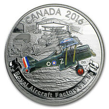 2016 Canada 1 oz Silver $20 Aircraft of WW1: Royal Factory S.E.5A - SKU#95296