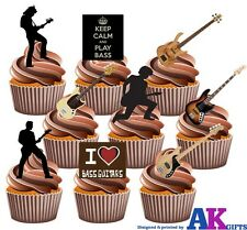 Bass/rock Guitar Fiesta Pack - 36 Diversión Totalmente Comestibles Cup cake toppers decorations