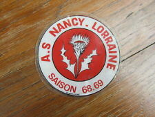 FOOTBALL MEMORABILIA vintage : ASNL AS NANCY LORRAINE Sticker  SAISON 1968/1969