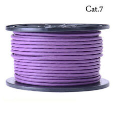 High end SSTP Cat.7 Network Lan Ethernet cable 600Hz 10Gbps 50M/165ft purple
