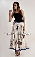 INDIAN HAND BLOCK PRINT COTTON LONG SKIRT GYPSY BOHO HIPPIE BELLY DANCING SKIRT