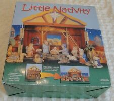 Little Nativity 14 Piece Set with a Cre'che Storage Case 8 Characters 3 Animals