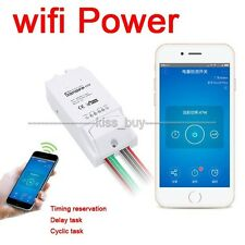 WiFi Phone app remote socket Wireless Smart Home Switch Power Current Test
