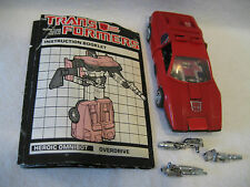 vintage G1 Transformers OVERDRIVE Autobot car 100% complete OMNIBOT mail away !!