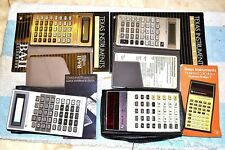 TI TEXAS INSTRUMENTS BUSINESS ANALYST CALCULATOR GROUP 4 DIFFERENT ALL WORKING