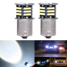 2x Canbus No Error White LED Tail Backup Reverse Light Bulb BA15S 1156 7506 1093